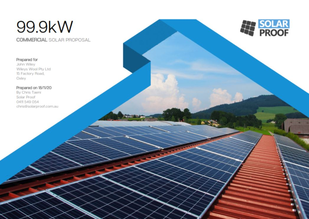 Solar Proof Solar Software Quote Example